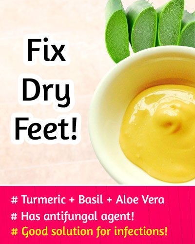 Turmeric Powder to Fix Dry Feet