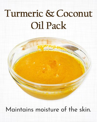 Turmeric and Coconut Oil Pack
