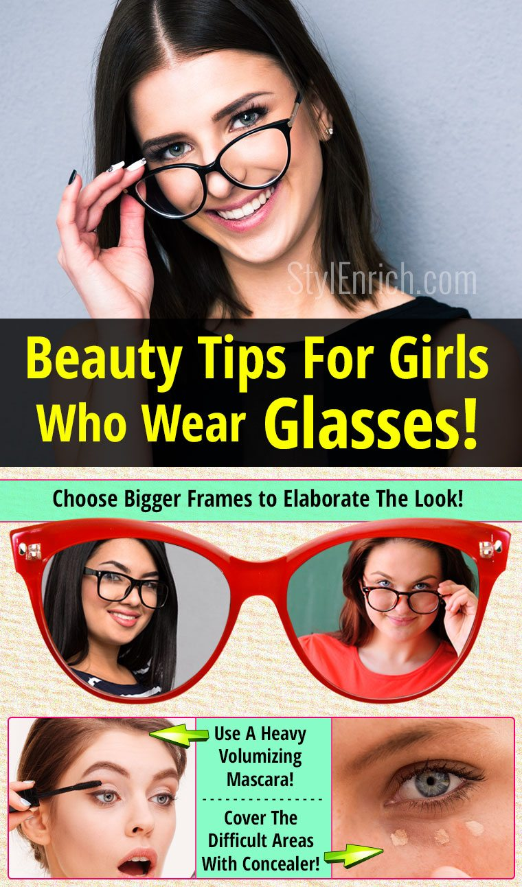 Beauty tips and makeup with glasses