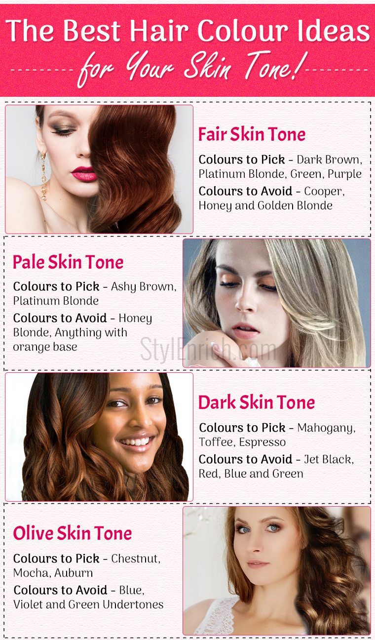 Hair Colors For Your Skin Tone Best Ideas To Choose The