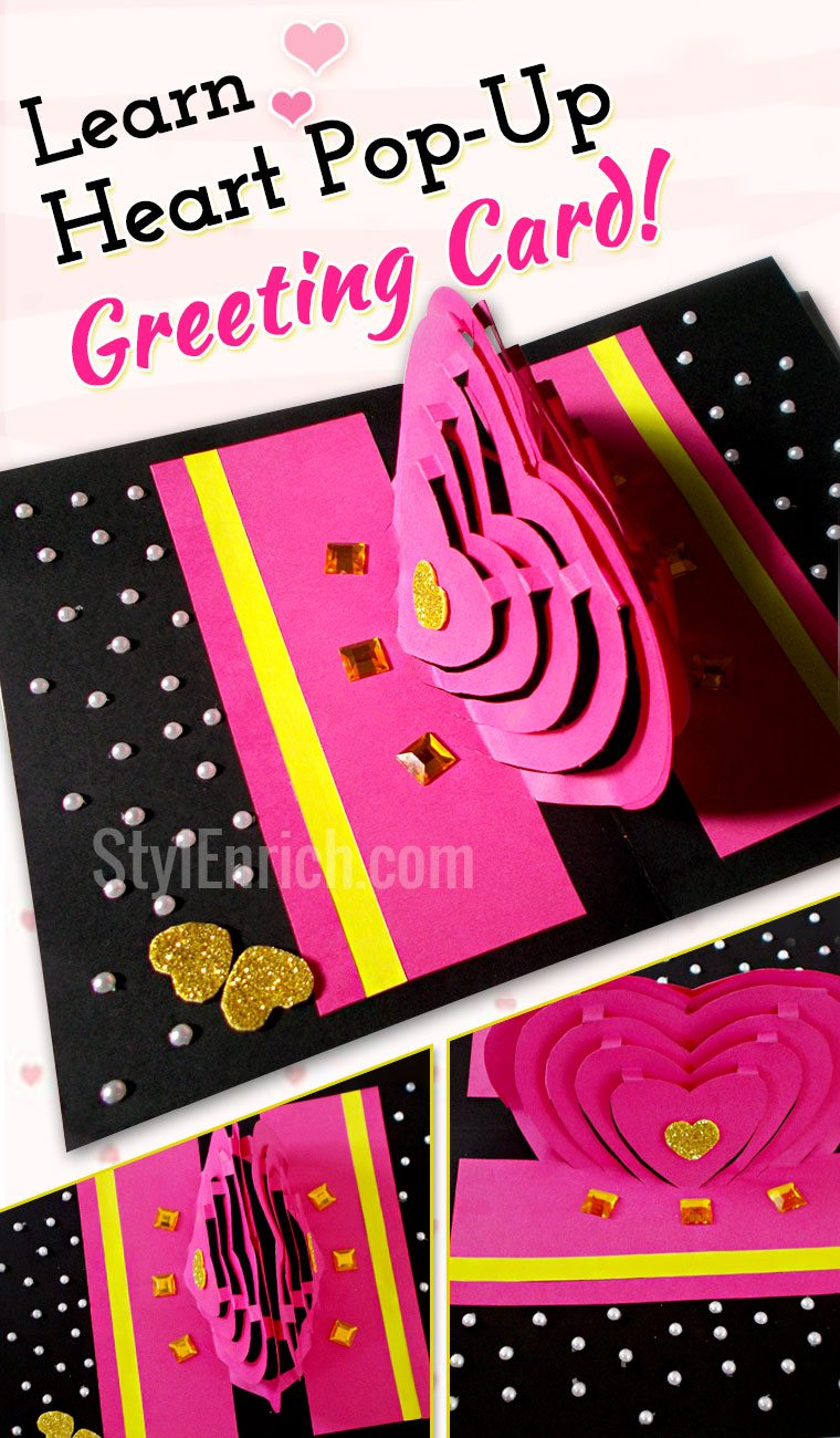 Diy Valentines Cards How To Make Heart Pop Up Love Card
