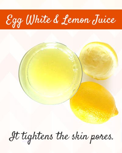 Egg White and Lemon Juice to Tighten Skin on Face