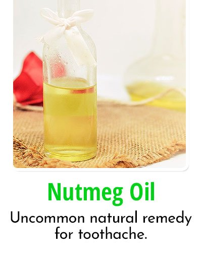 Nutmeg Oil for Toothache