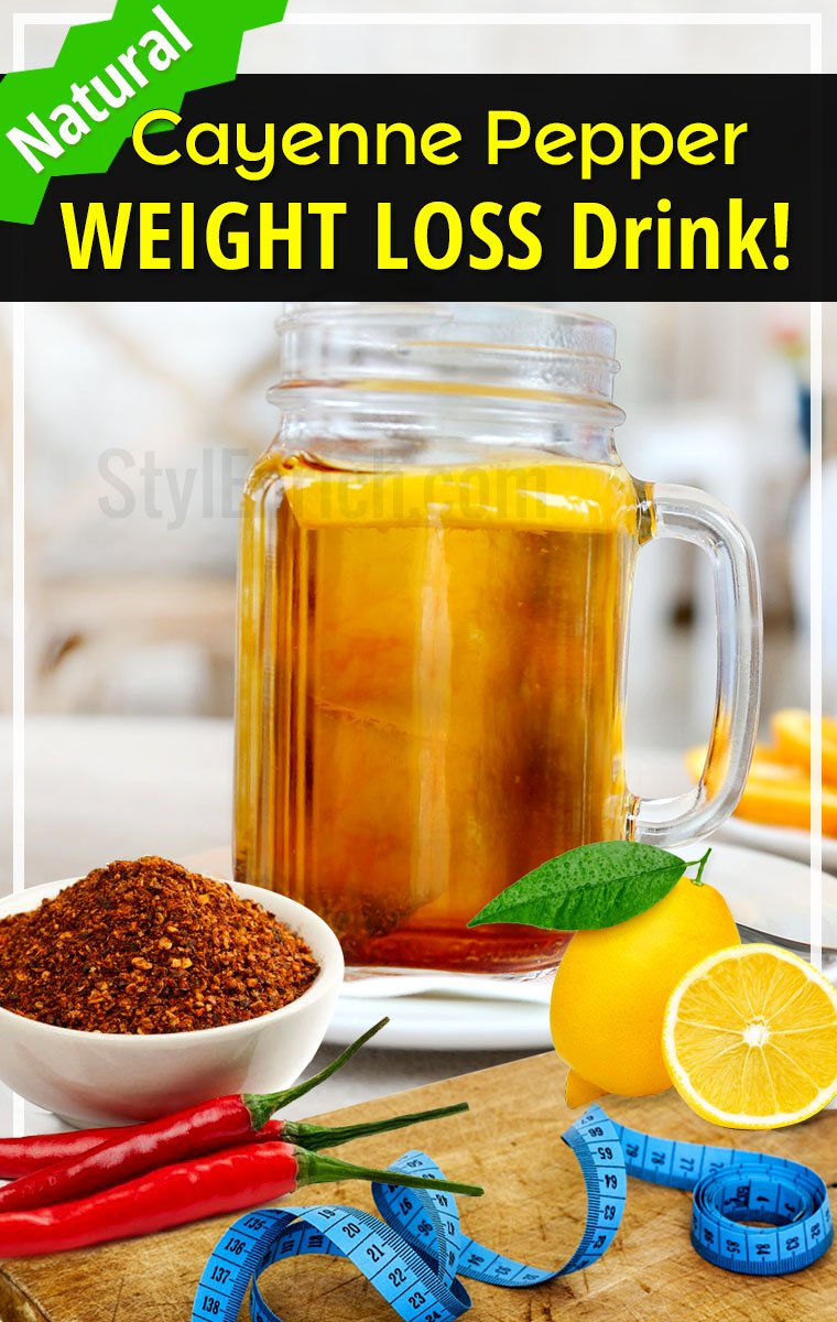 Cayenne Pepper Weight Loss Drink For Losing Weight Naturally!