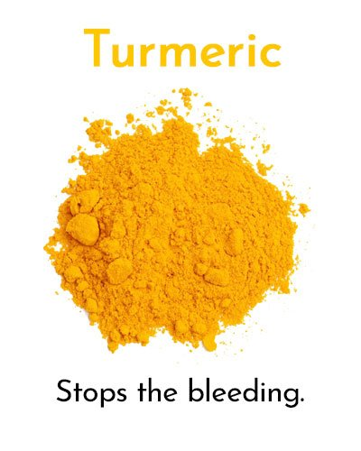 Turmeric for Minor Cuts and Grazes