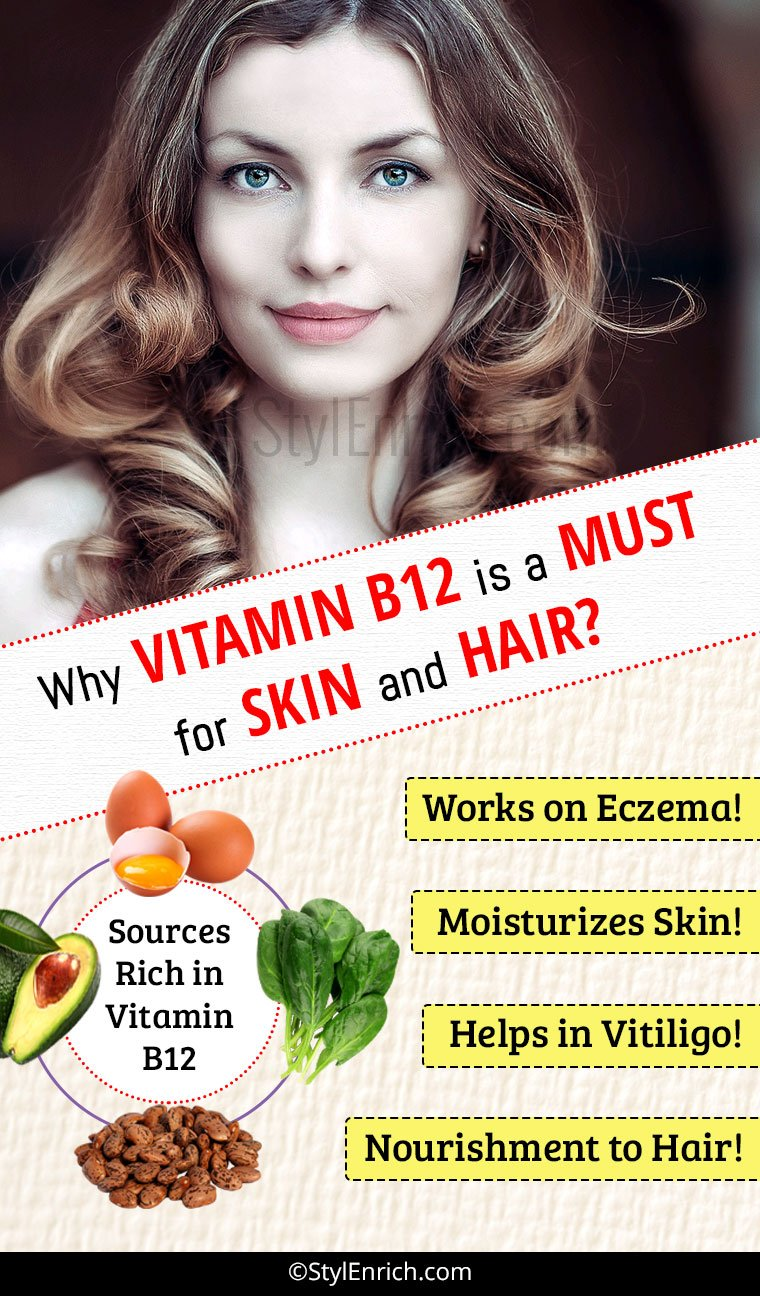 Vitamin B12 benefits for skin and hair