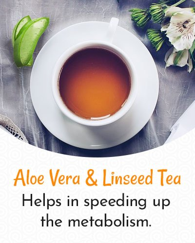 Aloe Vera and Linseed Tea for Weight Loss