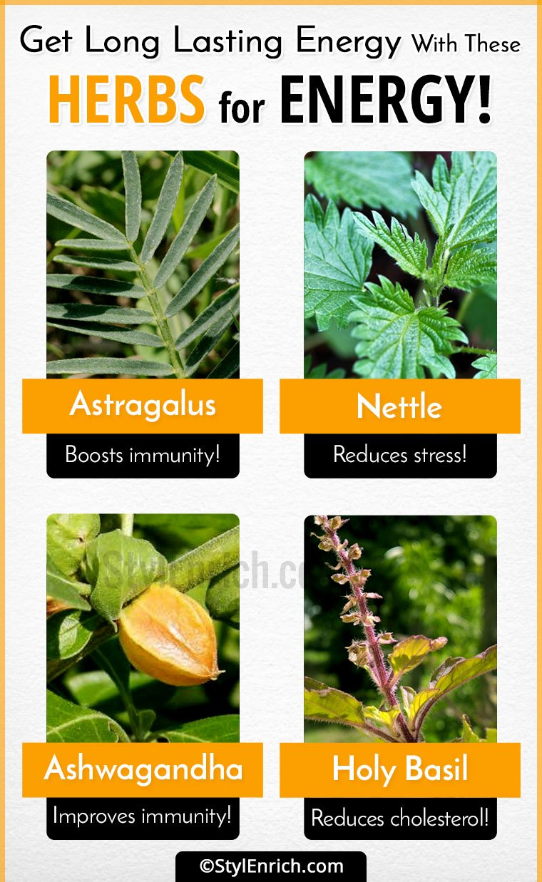 Natural herbs for energy