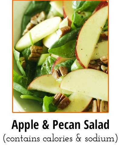 Apple and Pecan Salad Low Sodium Food