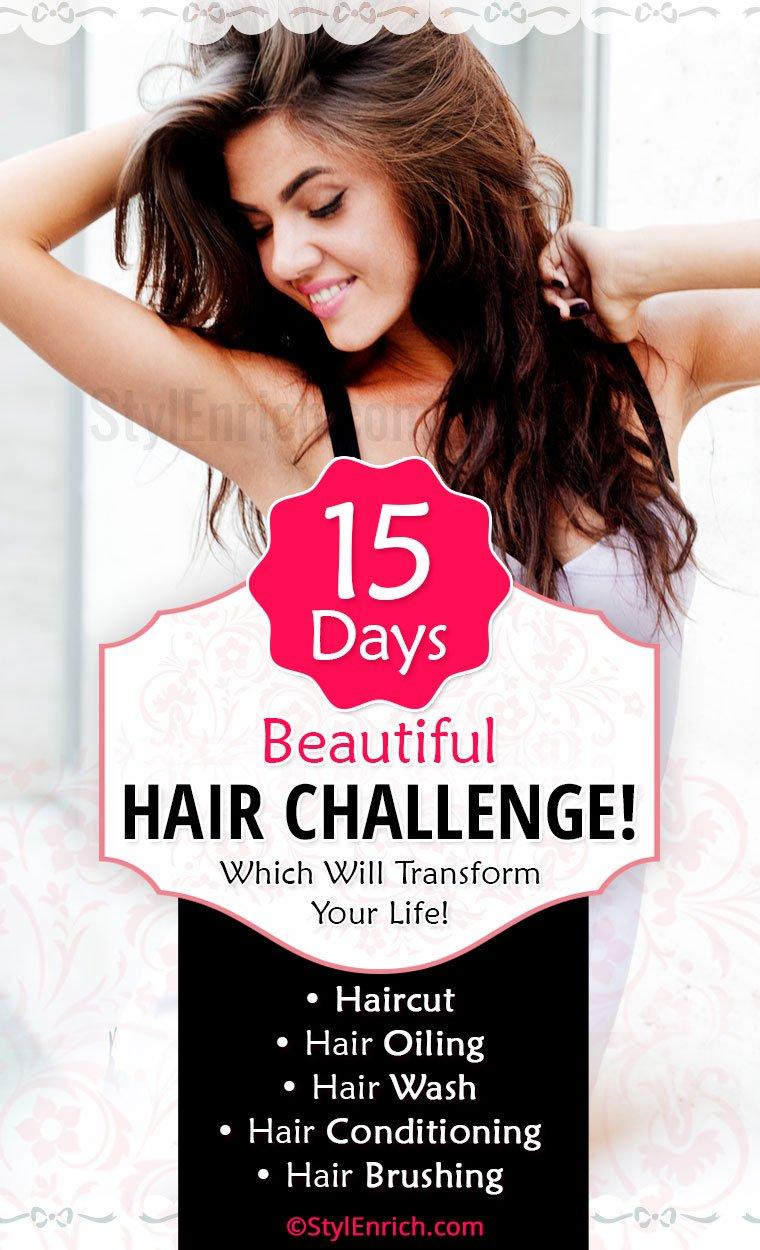 15 Days Beautiful Hair Challenge