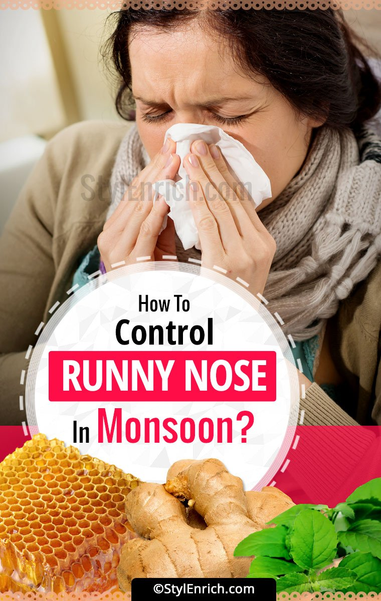 how to stop continuous sneezing and runny nose