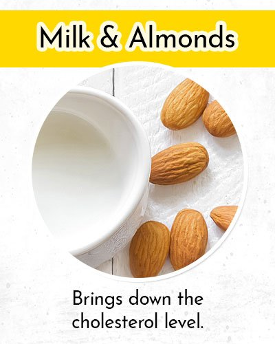 Milk and Almonds to Control Low Blood Pressure