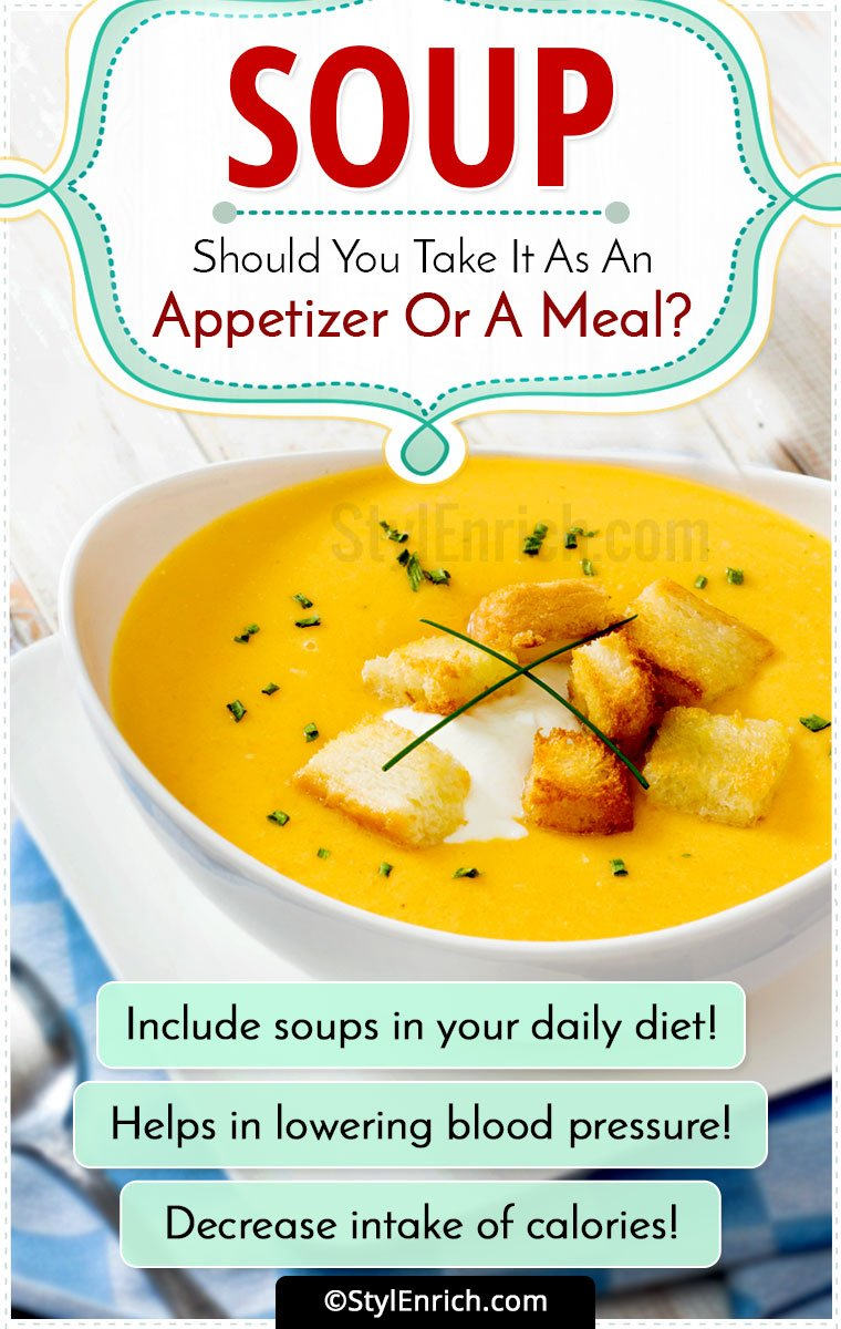 Is Soup an Appetizer
