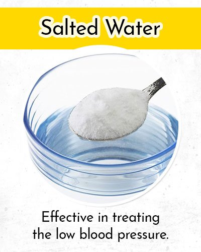 Salted Water to Control Low Blood Pressure