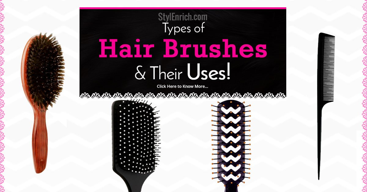 Hair brush types a complete guide to hair brushes and its uses urmus Choice Image