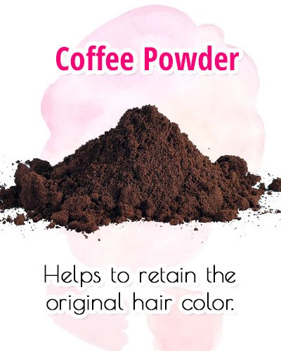 Coffee Powder For Premature Gray Hair