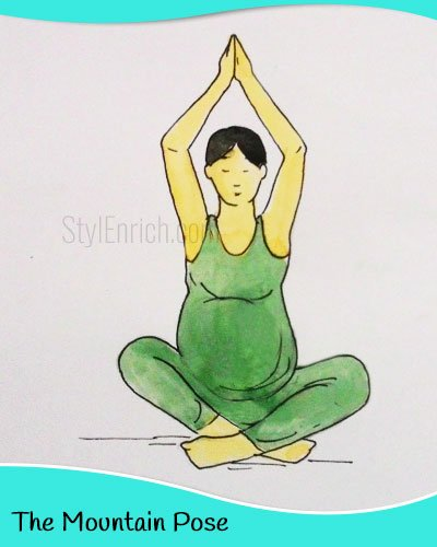 The mountain yoga pose for pregnant women