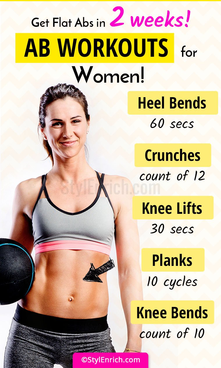 Ab Workouts For Women Get Flat Abs In 2 Weeks