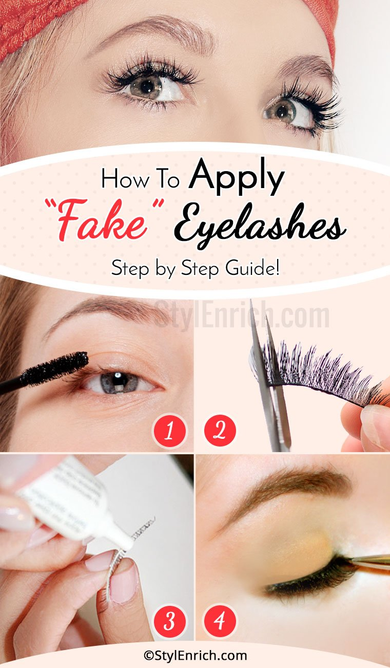 How To Apply Fake Eyelashes - Step By Step Guide!