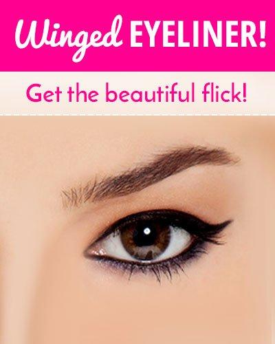 Winged Eyeliner Trick
