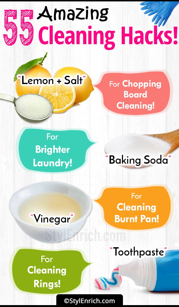 55 Cleaning Hacks