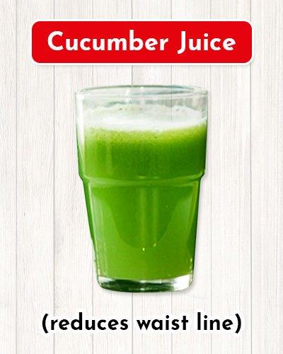 Cucumber Juice For Waist Line Reduction