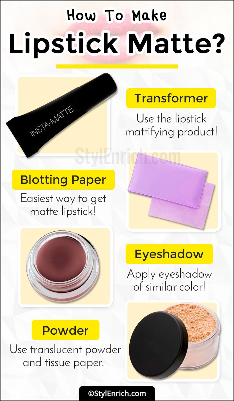 How To Make Lipstick Matte
