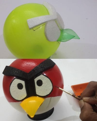 Angry bird piggy bank DIY