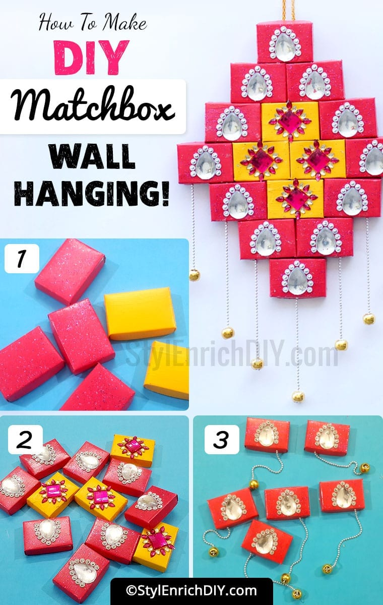 DIY Matchbox Wall Hanging-Best Out Of Waste Craft Ideas