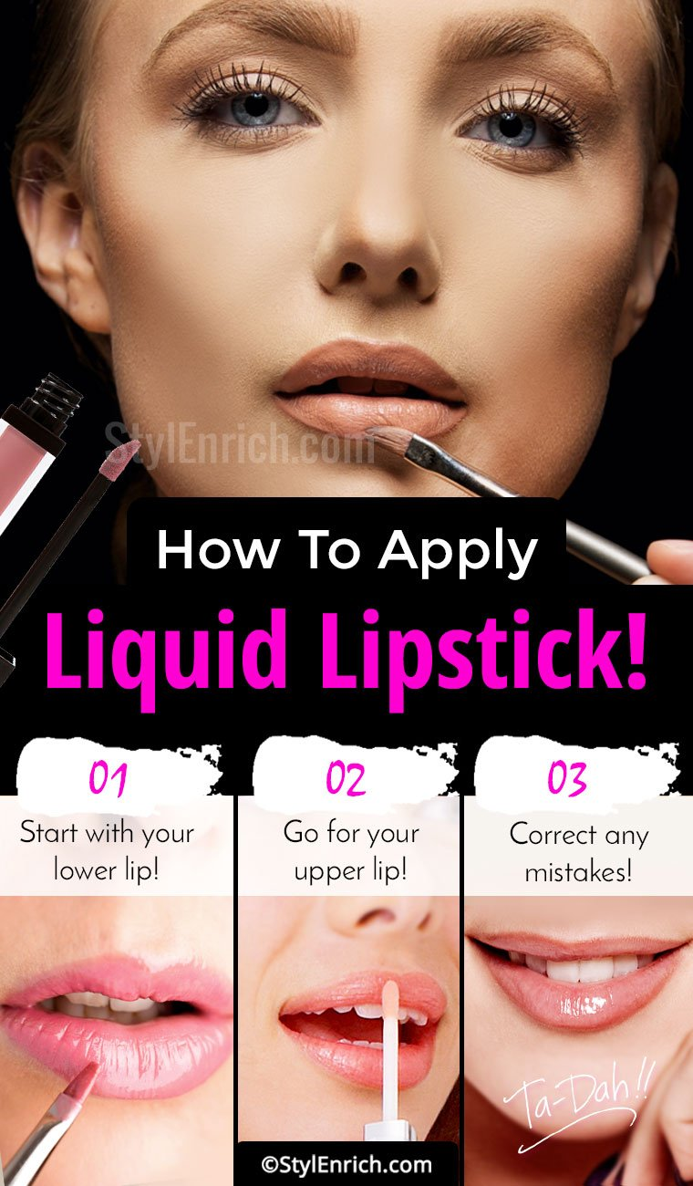 How To Apply Liquid Lipstick?