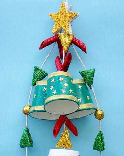 Paper Cup Hanging Craft For Christmas
