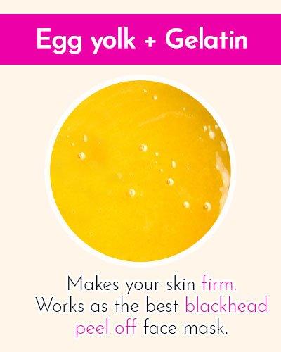 Egg Yolk & Gelatin Face Mask