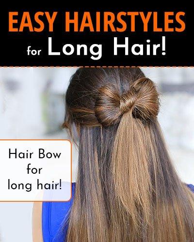 Hair Bow For Long Hair