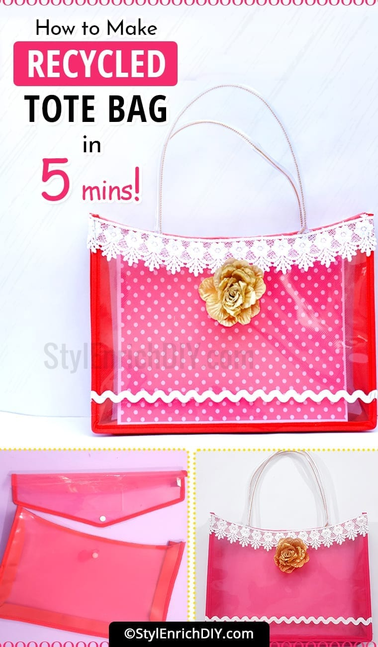 How To Make A Recycled Tote Bag In 5 Minutes?