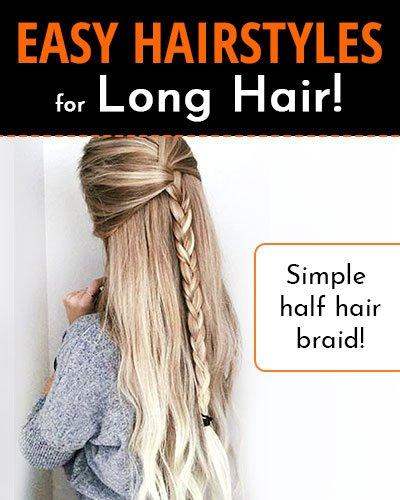Simple Half Hair Braid