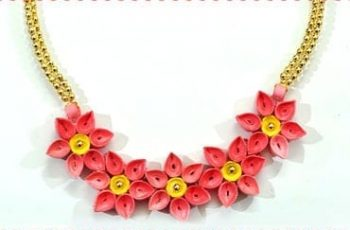 DIY Quilled Paper Necklace