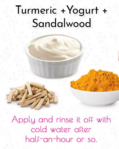 Turmeric, Yoghurt and Sandalwood Blackhead Mask