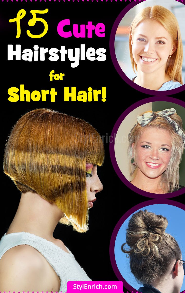 Part 2 -15 Easy Hairstyles For Short Hair