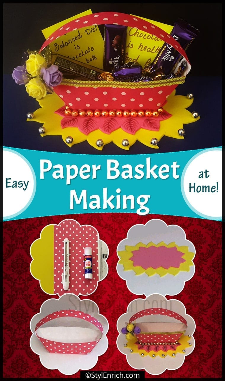 Easy Paper Basket Making at Home