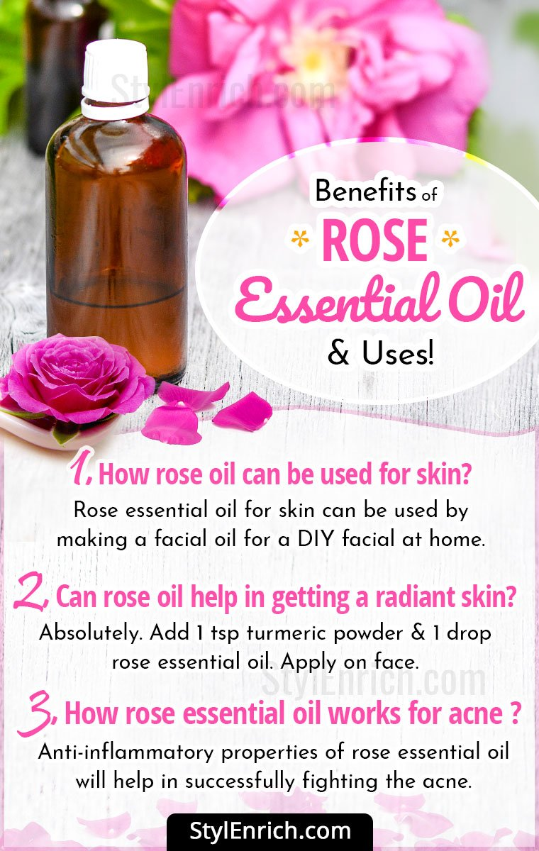 Rose Essential Oil Benefits & Uses