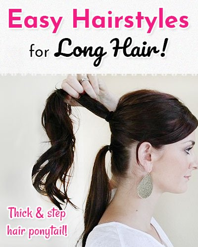 Thick and Step Hair Ponytail