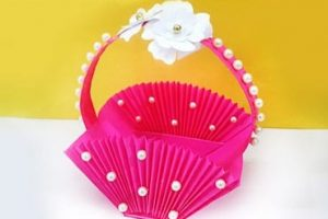 Easy Accordion Paper Basket