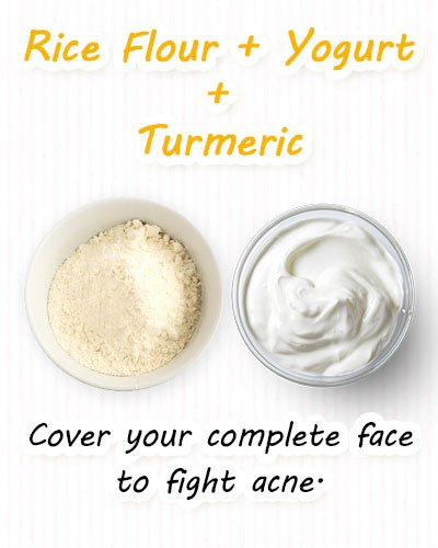 Turmeric, Yogurt, Rice Flour Face Masks