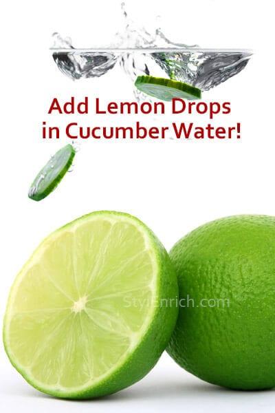 Add Lemon Drops in Cucumber Water