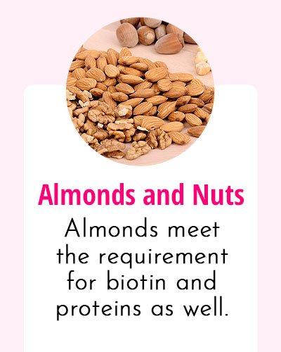 Almonds - Biotin Rich Food