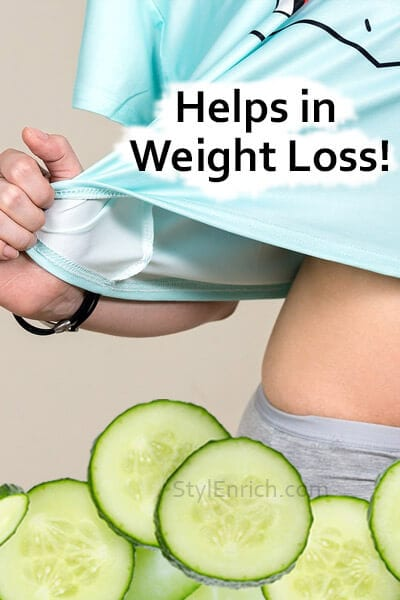 Cucumber Water Helps in Weight Loss