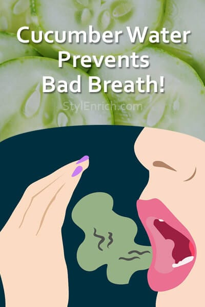 Cucumber Water Prevents Bad Breath
