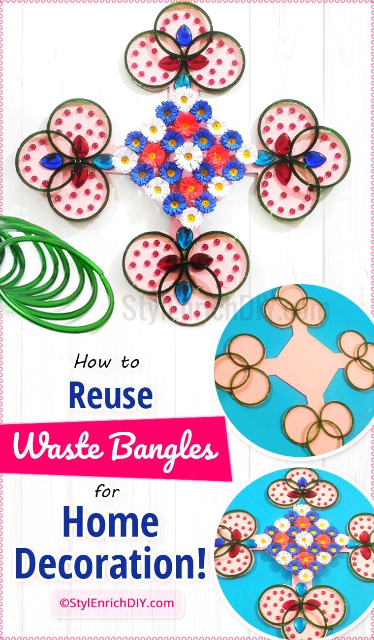 Best Out Of Waste Craft From Old Bangles