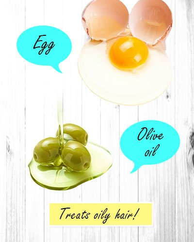 Egg and Olive Oil Hair Mask for Oily Hair