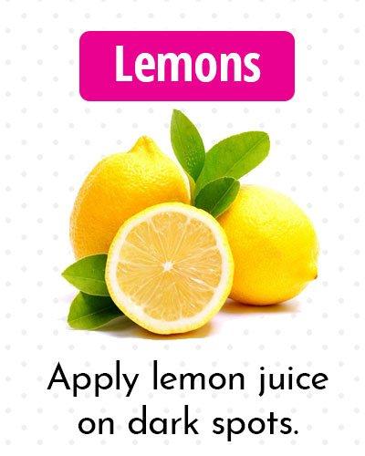 Lemons for Dark Spots